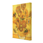 Vase with 15 Sunflowers by Vincent van Gogh Stretched Canvas Prints