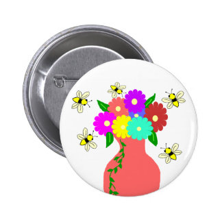 Vase with bees button