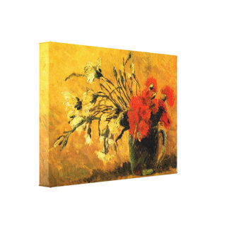 Vase with Carnations  by Vincent van Gogh Canvas Print