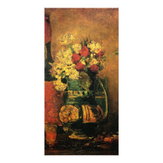 Vase with Carnations, Roses by van Gogh Personalized Photo Card