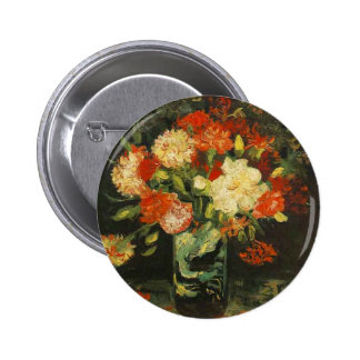 Vase with Carnations Vincent van Gogh Button