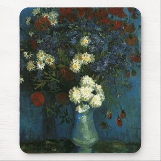 Vase with Cornflowers and Poppies, van Gogh Mousepad