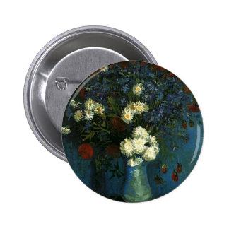 Vase with Cornflowers and Poppies van Gogh Pins