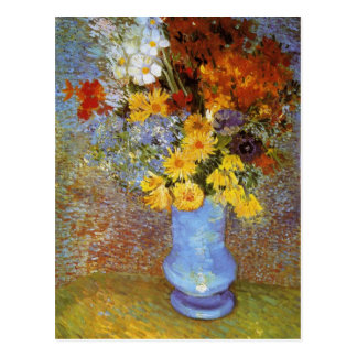 Vase with daisies and anemones - Van Gogh Postcard