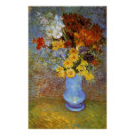 Vase with daisies and anemones - Van Gogh Poster