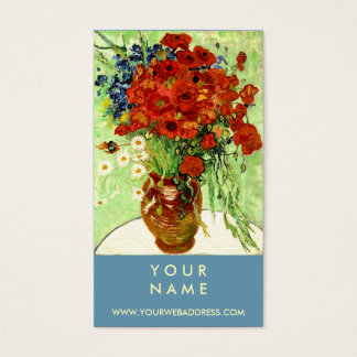 Vase with Daisies and Poppies by Van Gogh Business Card