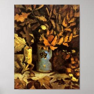 Vase with Dead Leaves Van Gogh Fine Art Poster