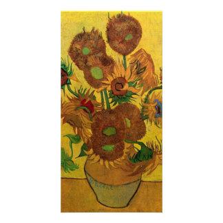 Vase with Fifteen Sunflowers by van Gogh Customised Photo Card