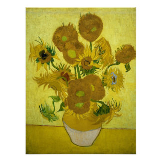 Vase with Fifteen Sunflowers by Van Gogh Poster