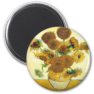 Vase With Fifteen Sunflowers By Vincent Van Gogh Refrigerator Magnet
