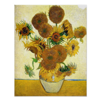 Vase With Fifteen Sunflowers By Vincent Van Gogh Poster
