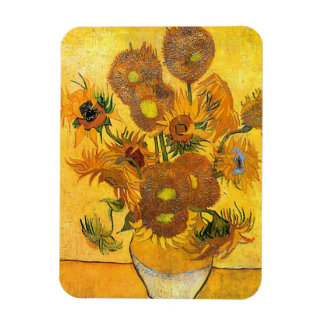 Vase with Fifteen Sunflowers by Vincent van Gogh Vinyl Magnet