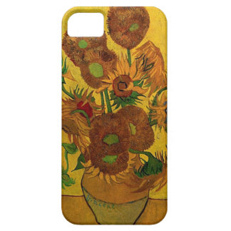 Vase with fifteen sunflowers iPhone 5 cover