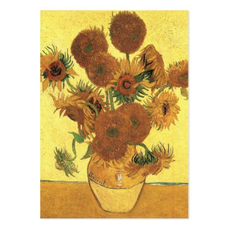 vase with fifteen  sunflowers, van Gogh Business Card
