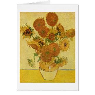 Vase with Fifteen Sunflowers, Van Gogh Fine Art Card