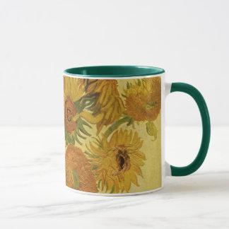 Vase with Fifteen Sunflowers, Van Gogh Fine Art Mug