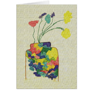 Vase with Flowers - Notecard Note Card