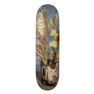 Vase with Gladioli and Chinese Asters by Van Gogh Skateboard