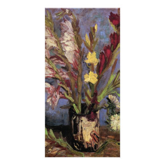 Vase with Gladioli by Vincent van Gogh Photo Card Template