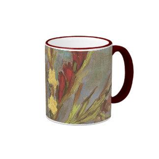 Vase with Gladioli van Gogh, Vintage Impressionism Coffee Mugs