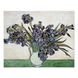 Vase with Irises by Vincent van Gogh (1890) Poster