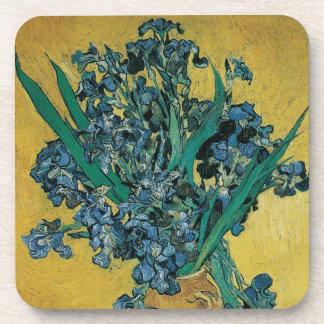 Vase with Irises by Vincent van Gogh, Vintage Art Drink Coaster