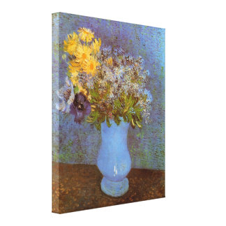 Vase with Lilacs, Daisies Anemones by van Gogh Canvas Print