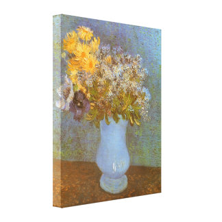 Vase with Lilacs, Daisies, Anemones by Van Gogh Canvas Print