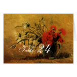 vase with red and white carnations stationery note card