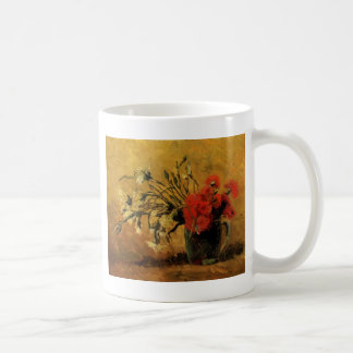 Vase with Red and White Carnations Mugs
