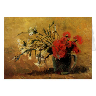 Vase with Red and White Carnations - van Gogh Card