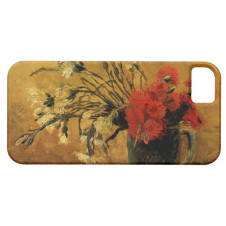 vase with red and white carnations, van Gogh iPhone 5 Covers