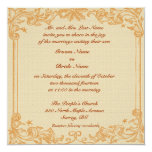 Vase with Red and White Carnations, Van Gogh Personalized Invitation