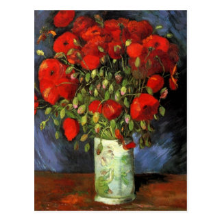 Vase with Red Poppies by Van Gogh Postcard