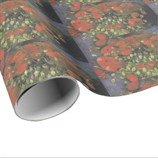 Vase with Red Poppies by Vincent van Gogh Wrapping Paper