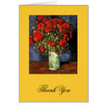 Vase with Red Poppies Vincent van Gogh. Greeting Card