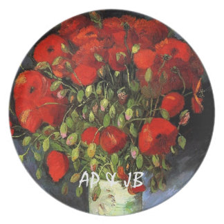 Vase with Red Poppies Vincent van Gogh Dinner Plates