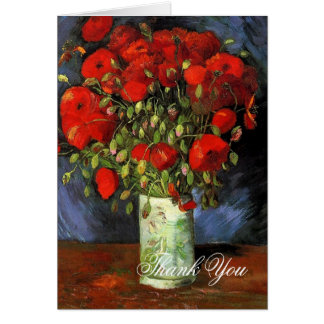 Vase with Red Poppies Vincent van Gogh Greeting Card