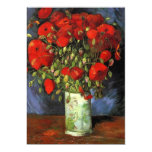 Vase with Red Poppies Vincent van Gogh. Personalized Announcements