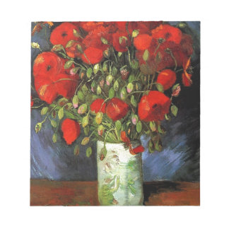 Vase with Red Poppies Vincent van Gogh Note Pads