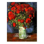 Vase with Red Poppies Vincent van Gogh. Postcard