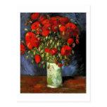 Vase with Red Poppies, Vincent van Gogh Postcard