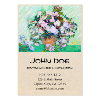 Vase with Roses by Vincent Van Gogh Business Cards