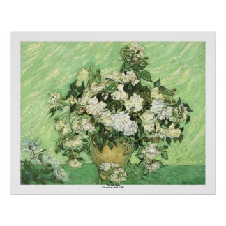 Vase with Roses by Vincent van Gogh Poster