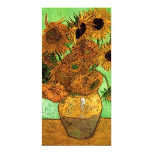 Vase with Twelve Sunflowers by van Gogh Custom Photo Card