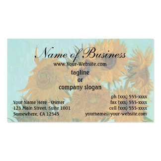 Vase with Twelve Sunflowers by Vincent van Gogh Business Card Templates