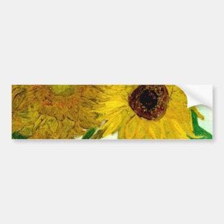 Vase with Twelve Sunflowers, Van Gogh Fine Art Bumper Sticker