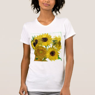 Vase with Twelve Sunflowers, Van Gogh Fine Art T-Shirt