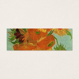 Vase with Twelve Sunflowers, Vincent van Gogh. Mini Business Card