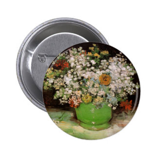 Vase with Zinnias and other flowers Pin